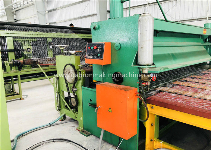 Green Gabion Wire Mesh Machine 5300mm Max. Netting Width For Slope Revetment