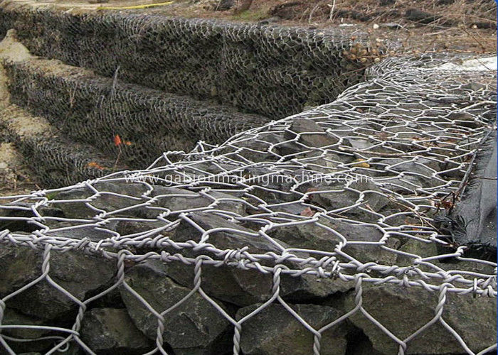 Hexagonal Gabion Box Bridge Protection With Hot Dipped Galvanized Wire