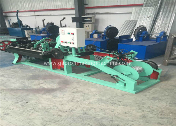 Twisted Barbed Wire Making Machine Horizontal Design With PVC Coated Wire Materials